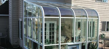 curved eave sunroom in salt lake city utah