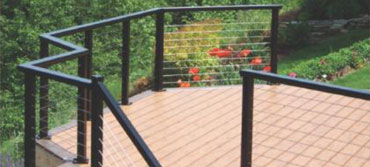 railing system for a back patio