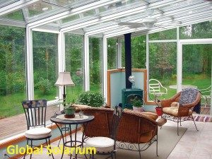 The interior of a conservatory for a home in Seattle WA