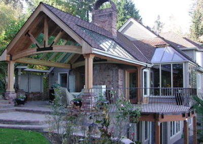 Wooden Patio Awning