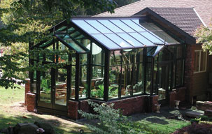 georgian gable sunroom in salem oregon for a garden