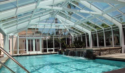 A pool enclosure for a residential San Diego CA home