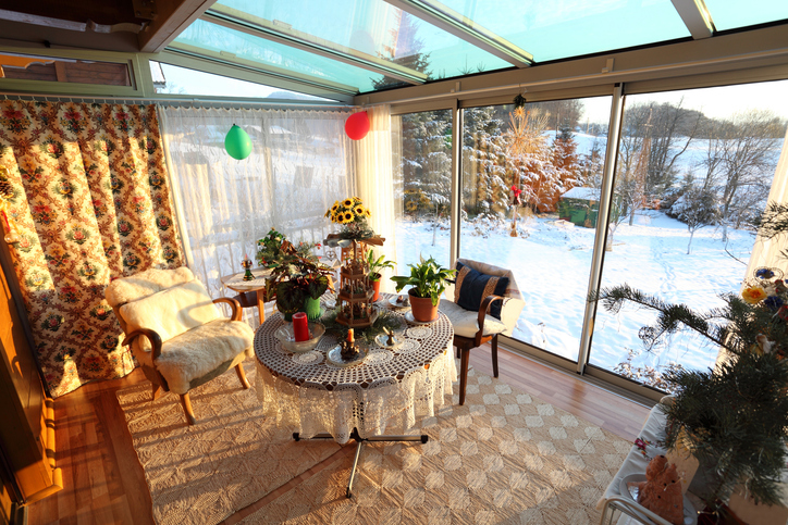 heating a sunroom in winter